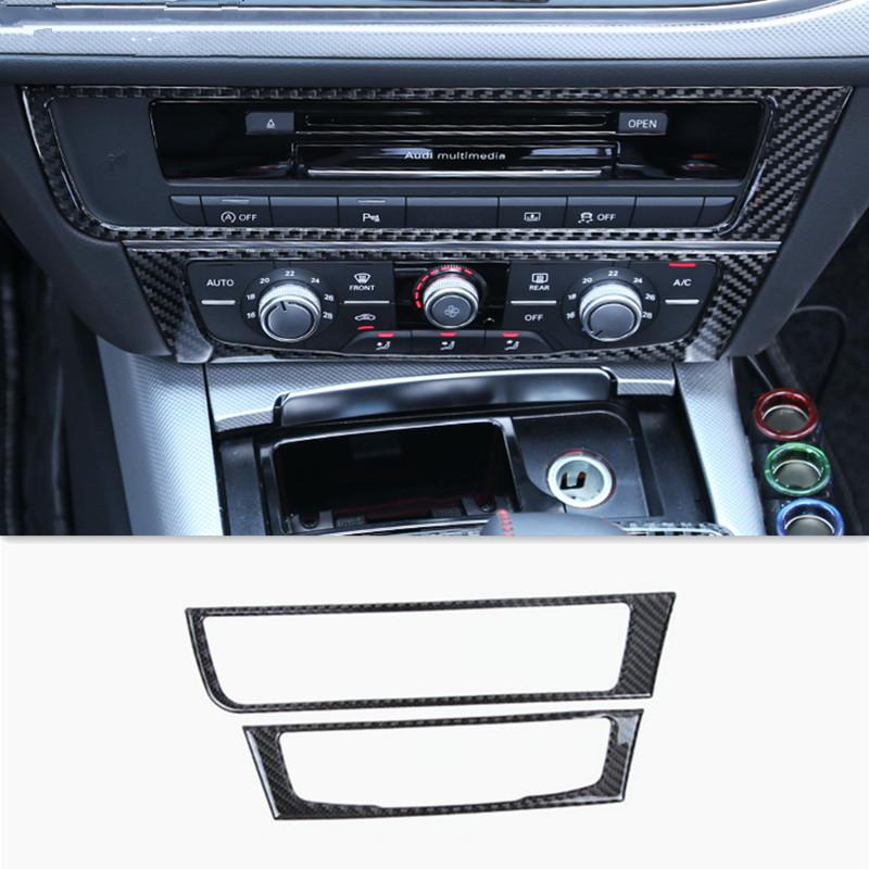 new style 21cff 2e4d4 Middle Console CD Panel Cover Trim For Audi A6 C7 2012 16 Carbon Fiber  Interior Accessories 3D Stickers Car Styling Interior Car Accessories  Interior Car ...