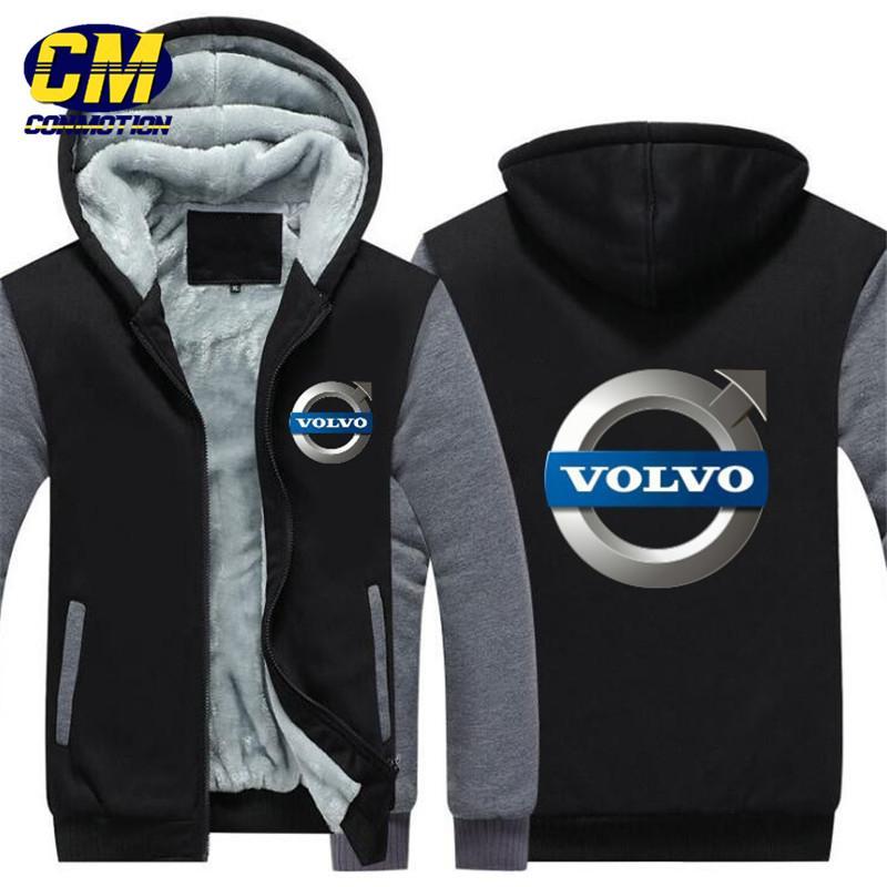 Casual Warme Volvo Plus Samt Kapuzen Winter Mode Jacke Sportbekleidung Sweatshirt Herren kuTwXOPZi