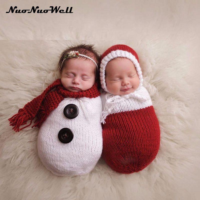 Newborn Baby Boy Girl Sleeping Bags Infant Snowman Style Swaddling