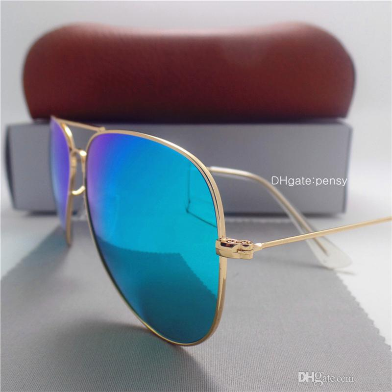 Glass Lens Brands Designer Sunglasses Men Women Vintage Sunglasses Trend Brands Designer Vintage 58 62 Shade Coating Unisex Eyewear With Box