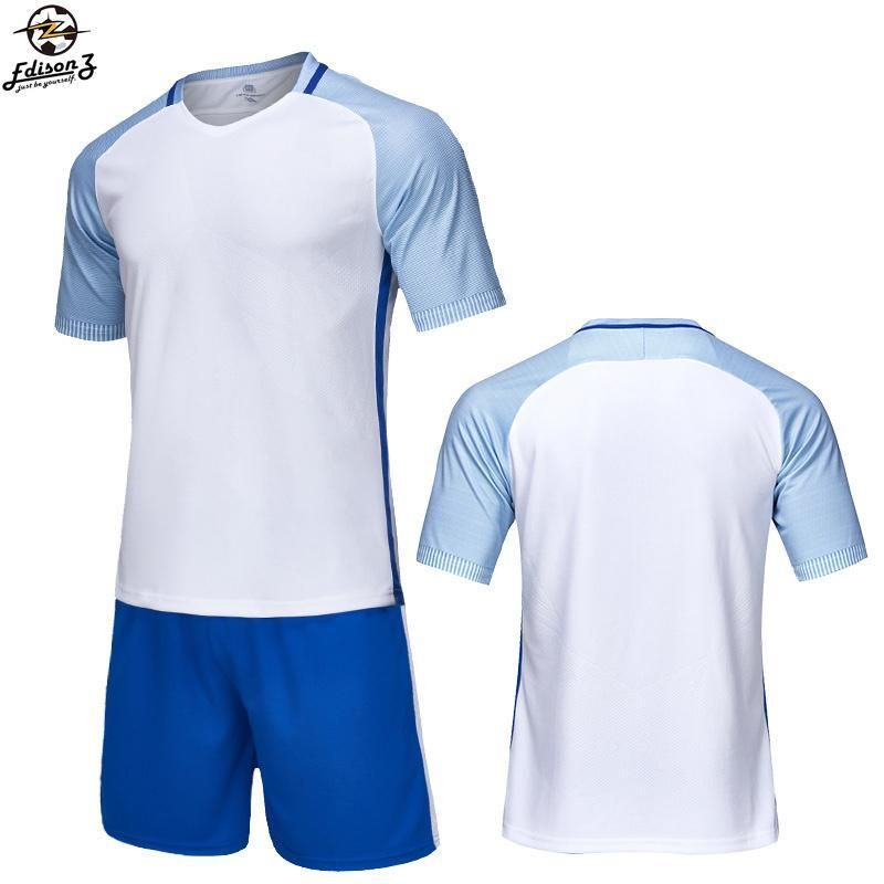 finest selection c7bd6 53ba8 Blank Football jerseys Football uniform men Soccer Training Suit Running  Sportswear Tracksuit Soccer Jersey & Customized