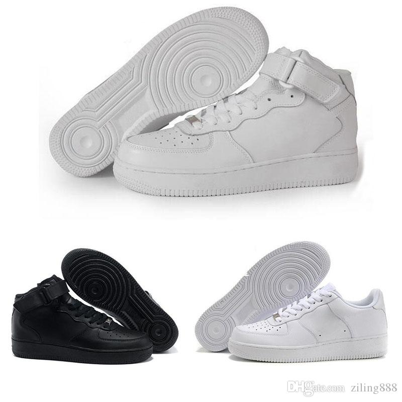buy online 045ee deef2 Compre Air Force One 1 Af1 New One 1 Dunk Men Women Zapatos Casuales,  Deportes Skateboard Shoes High Low Cut Blanco Negro Zapatillas De Deporte  Al Aire ...
