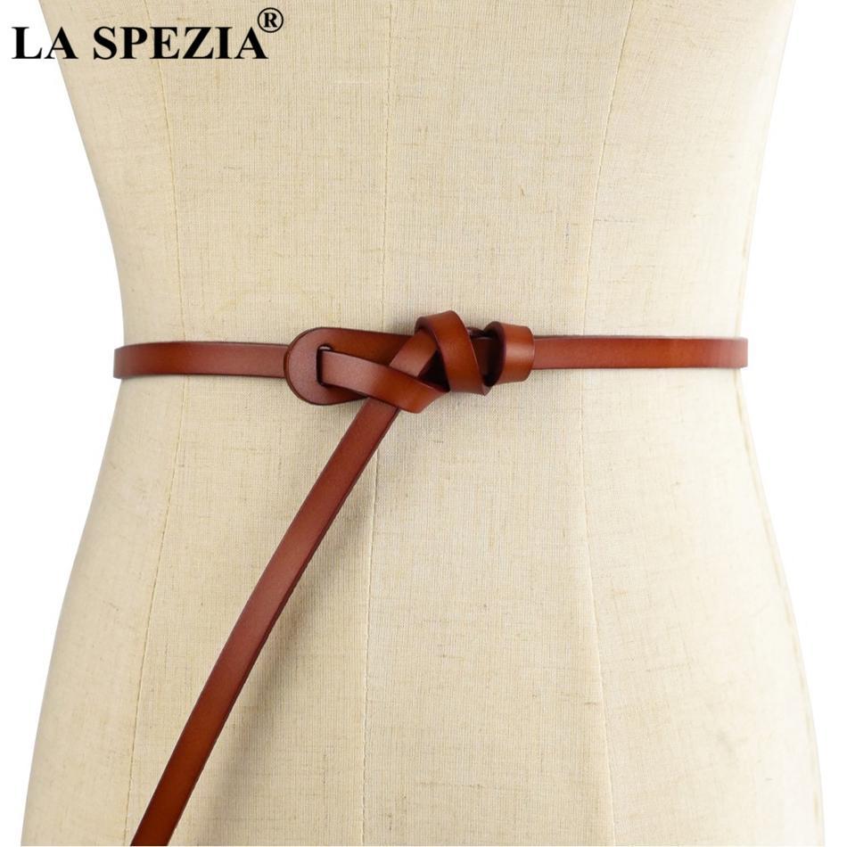LA SPEZIA Ladies Dress Belts Orange Leather Belt Wrap For Women Cow ... a10b39999e