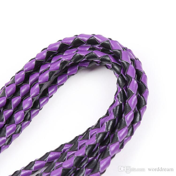 BDSM Leather Whip Flogger Ass Spanking Bondage Slave SM Restraints In Adult Games For Couples Fetish Sex Toys For Women Men - HY24