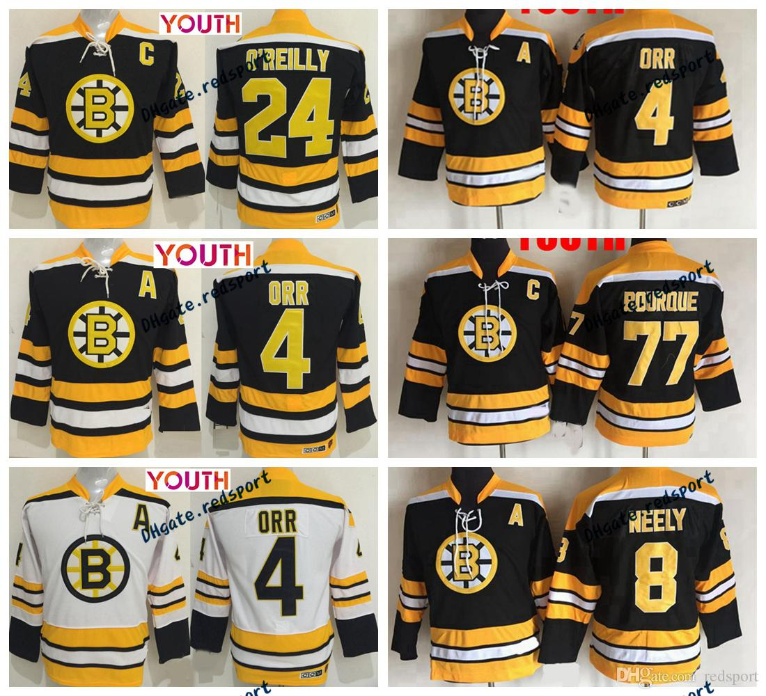 ... black jersey nhl 77 boston bruins sawyer hooded sweatshir  best youth  boston bruins 4 bobby orr 77 ray bourque 24 terry oreilly 8 cam neely 61c1a4ea2