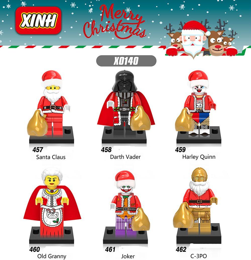 building blocks new christmas santa claus c 3po old granny harley quinn joker darth vader super heroes toys for children x0140 legoblocks legosite from