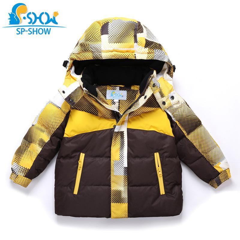 cca6b67c2becc Acheter SP SHOW Hiver Enfants Outwear O Cou Garçons Manteaux ...