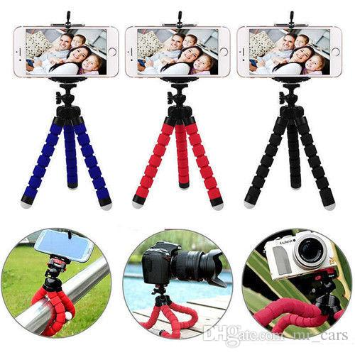 hot sale online 986cf 96bc7 Universal Flexible Mini Stand Tripod Mount Free car Holder For iPhone Cell  Phone Camera 2018 Octopus Tripods Portable BBA142