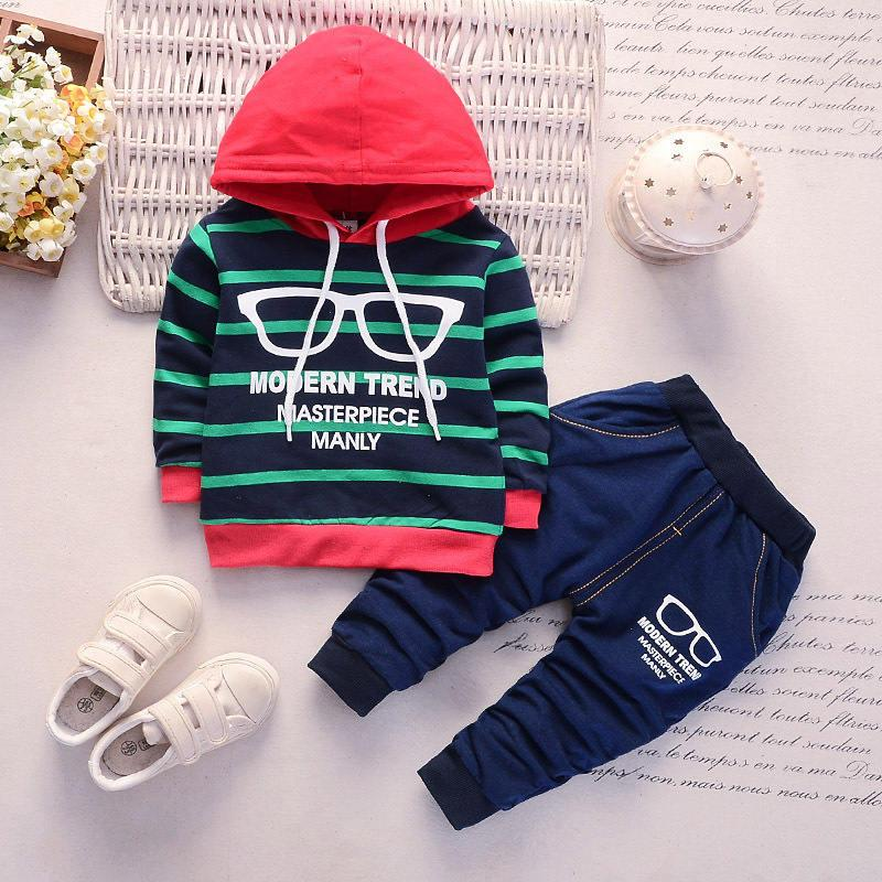 0ffe6e3b8 BibiCola spring autumn toddler boys clothing set hoodies sweatshirts+pants  2pcs baby boys tracksuits kids stripe sport set