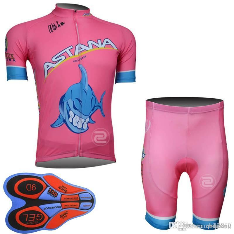 ASTANA Team Cycling Short Sleeves Jersey Bib Shorts Sets Racing Mens ... b93e4a956