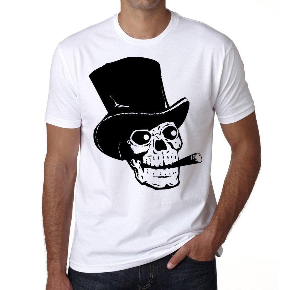 Compre Estilo Calavera Con Sombrero De Copa Y Cigarro 82e4ba12d70