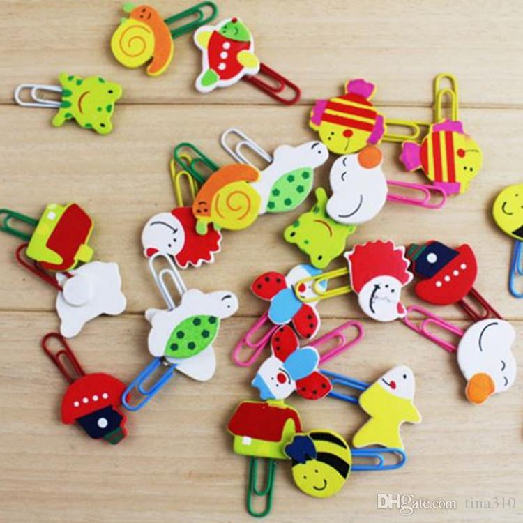New hot sale Creative cartoon wooden clip Lovely animal bookmark Mini cute pin Paper clip T4H0315