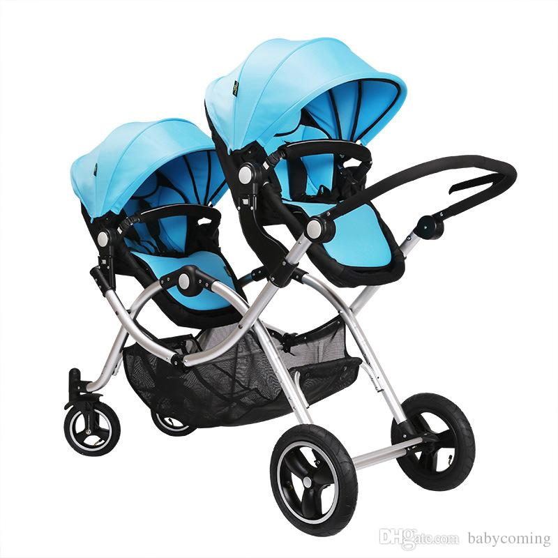 589b07837 2019 Multi Function Baby Stroller For 2 Kids