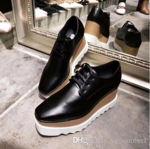 d1304efd3885 Stella Mccartney Women Star Platform Shoes Top Quality Calfskin Genuine  Leather 7cm Wedge Oxfords Elyse Sneakers Mens Shoes Loafers From  Xu number1