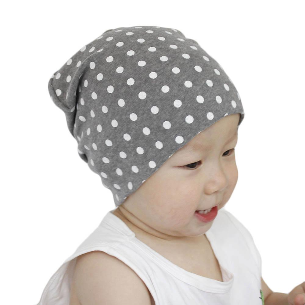 Compre 2018 Bebé Sombrero De Algodón Para Niños Niñas Otoño Invierno Cálido Sombreros  Niños Dot Caps Para Niños Moda Skullies Gorros Niño Casual Cap A ... 2ff6cfd8bcf