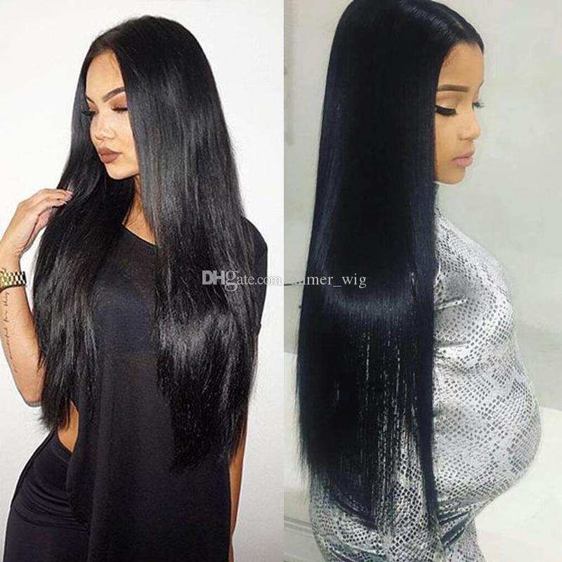 100% raw 10a new best selling unprocessed remy virgin human hair natural color long silky straight full lace wig for women