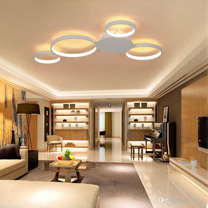 Square Circle Rings Chandelier For Living Room Bedroom Home Ac85-265v Modern Led Ceiling Chandelier Lamp Fixtures Free Shipping Lights & Lighting