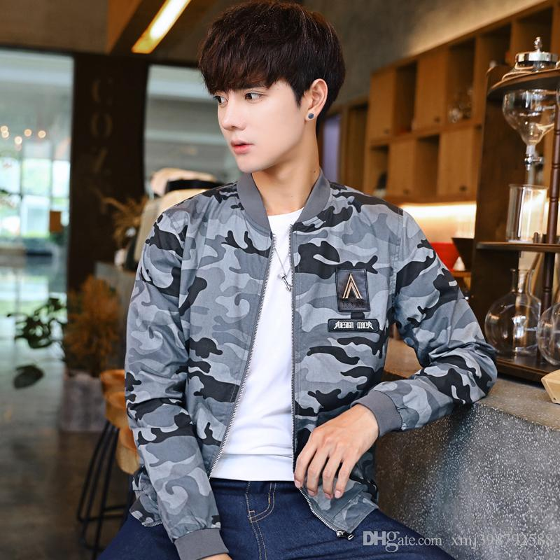Teenager Camo Jeans Jacket Hoodies American Style Fashion Men S