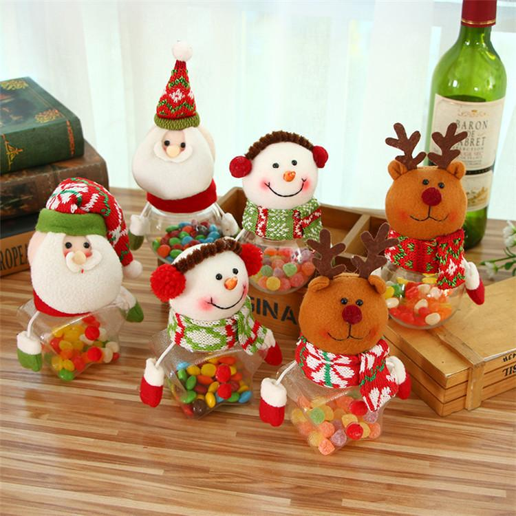christmas decorations creative christmas candy jar kindergarten children the candy bags wholesale gift cans t1i814 snowflake decorations snowman christmas - Christmas Candy Jar Decorations