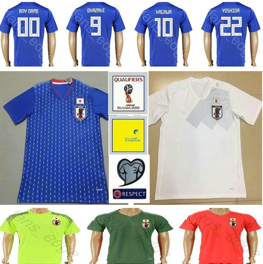 14ef10e27 2019 2018 World Cup Japan Soccer Jersey 9 OKAZAKI 10 KAGAWA 17 HASEBE 6  MORISHIGE 8 KIYOTAKE 22 TOSHIDA Home Blue Custom Football Shirt From  Fans_edge, ...