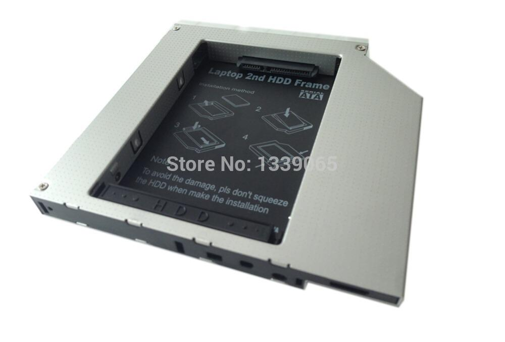 "Wholesale- Aluminum Kits 2nd HDD Caddy 2.5"" Hard Disk Drive Enclosure SSD Case"