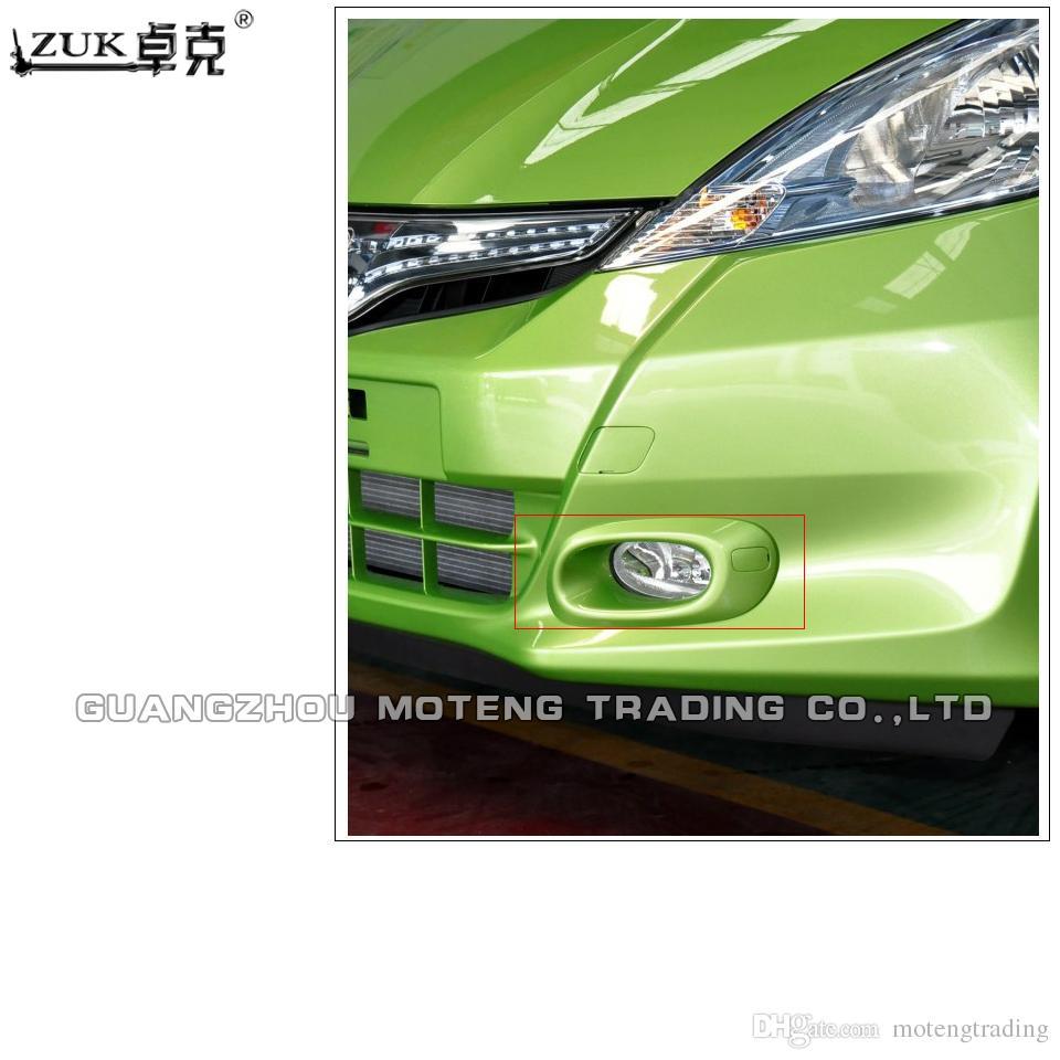 ZUK Brand New Car-Styling Front Bumber Fog light Fog Lamp Cover Hood Trim For HONDA FIT JAZZ 2012 2013 2014 GE6 GE8 Base Color