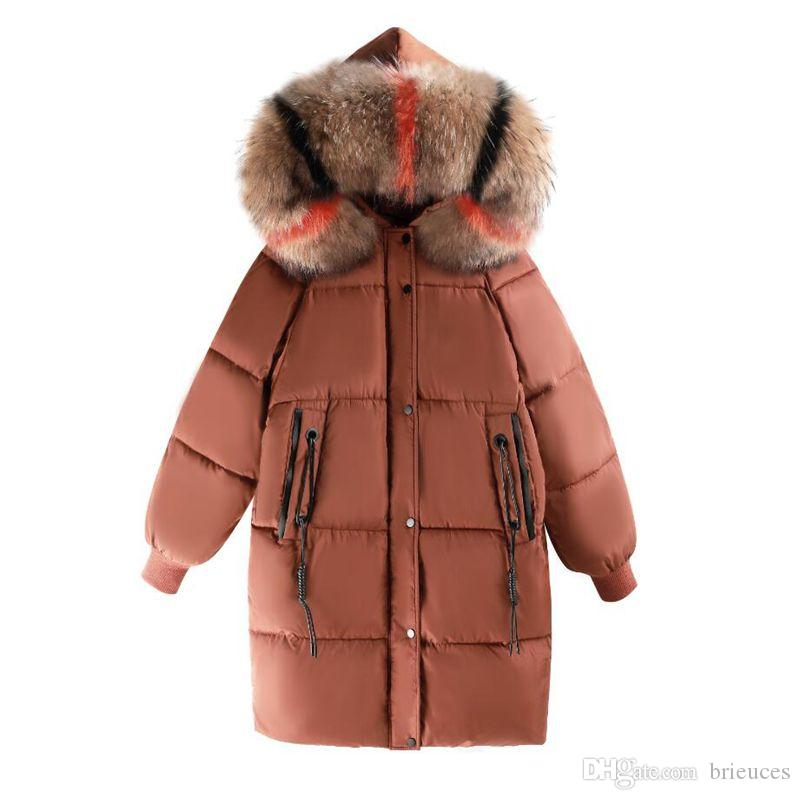 Brieuces High Quality Winter Jacket Women With Fur Warm Thicken Snow Wear Female Coat Long Parkas Cotton Padded Hooded Women's Winter Jacket