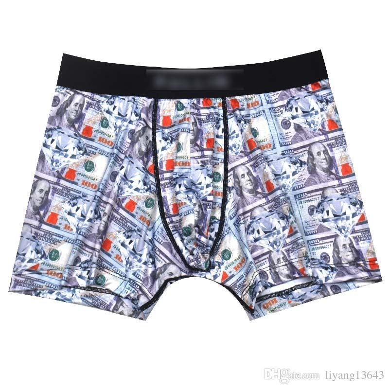 d67e2c9c56 3PCS 2018 new tide brand new products listed in US diamond print blessing  plus men's plain underwear briefs.