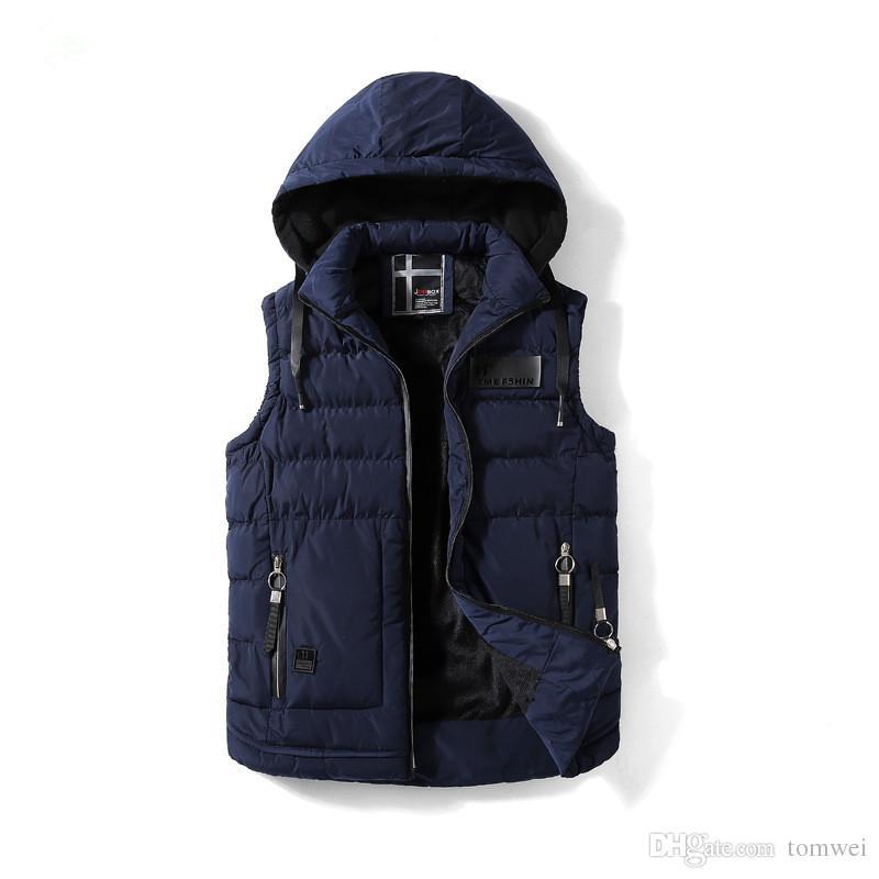 d9e5203c48d Mens Clothing Casual Vest Outwear Sleeveless Jackets Hoodies Winter ...