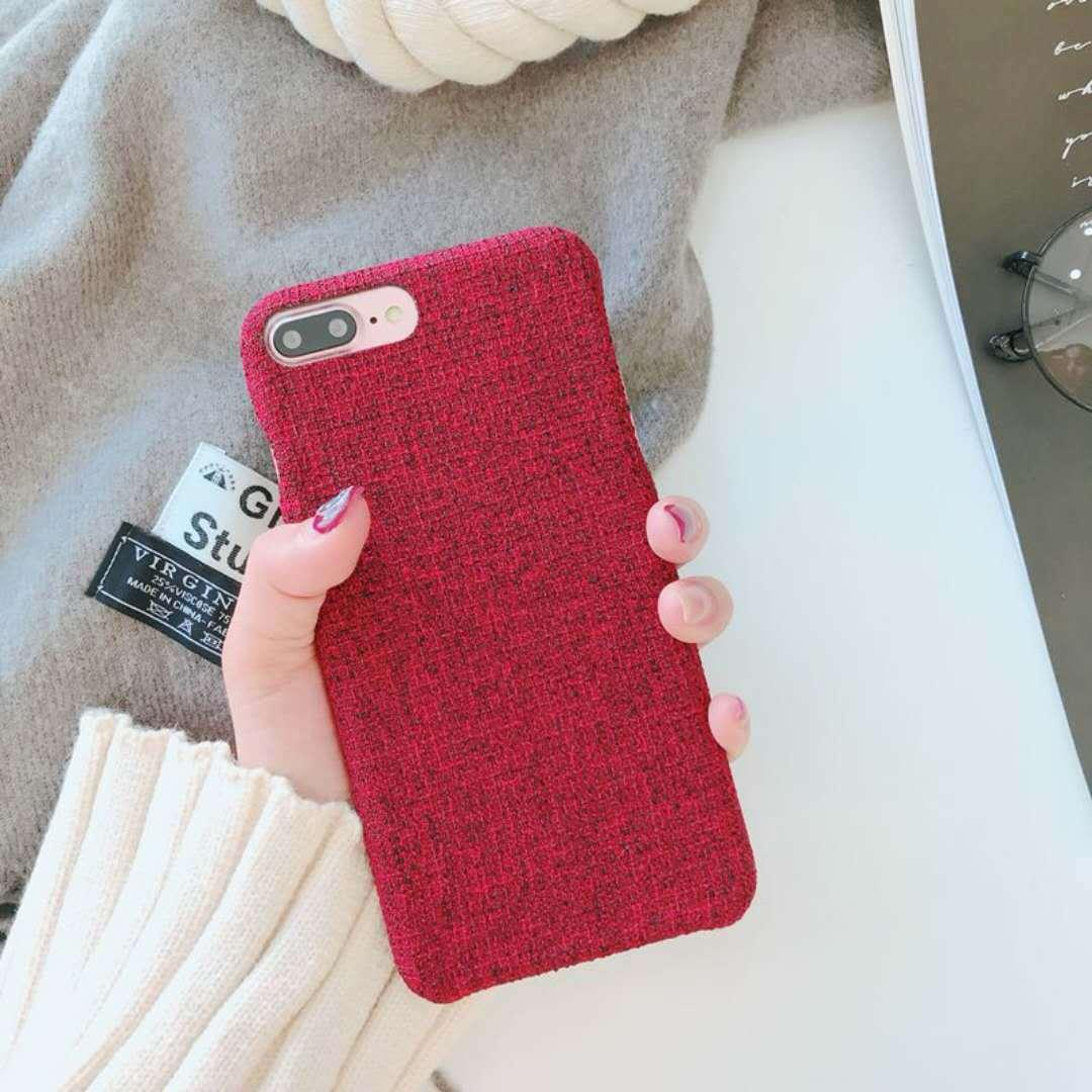 Fashion Phone Case Autumn And Winter Models Of Linen Fabric