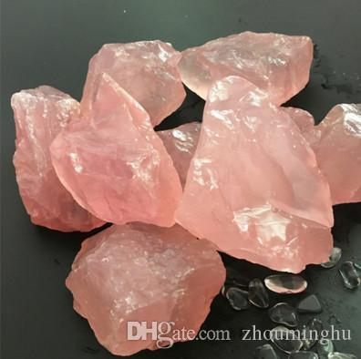 50G Natural Raw Pink Rosenquarz Kristallstein Probe Heilkristall Liebe Natursteine und Mineralien Aquarium Stein