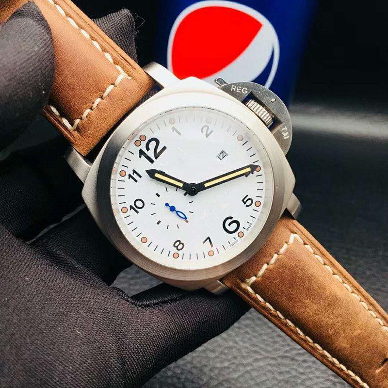 d146c43350 Classic 44mm Men S Mechanical Watches Import CITIZEN 8217 Mechanical  Movement Sapphire Glass Cowhide Strap Men S Watch Watches Sales Sale Watch  From ...