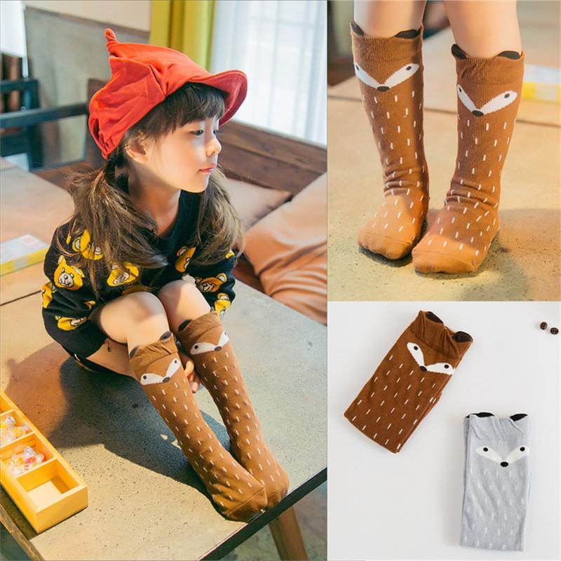 50cedd780 Unisex Baby Girls Boys INS Cartoon Knee High Socks Animal Leg Warmer Children  Kids Fox Cat Panda Totoro Cute Dot High Stockings Pad Sock New Cool Socks  For ...