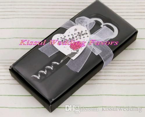 Wedding souvenirs of Tuxedo Heart Corkscrew in Gift Box For Wedding wine bottle opener and Party Favors