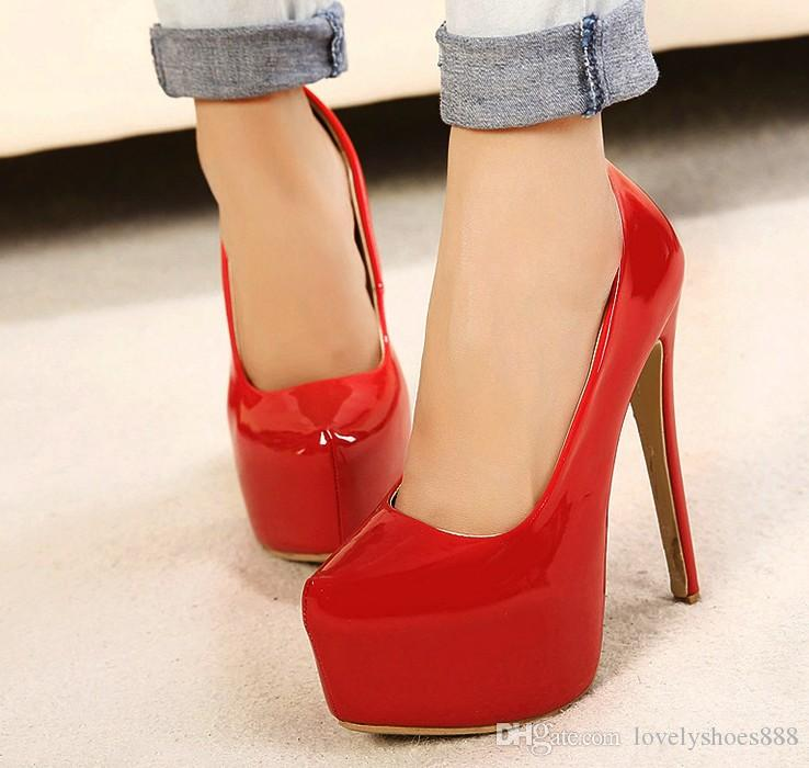 fashion 15cm heel PU sexy more color big size high heel black red color party NightClub shoes 431