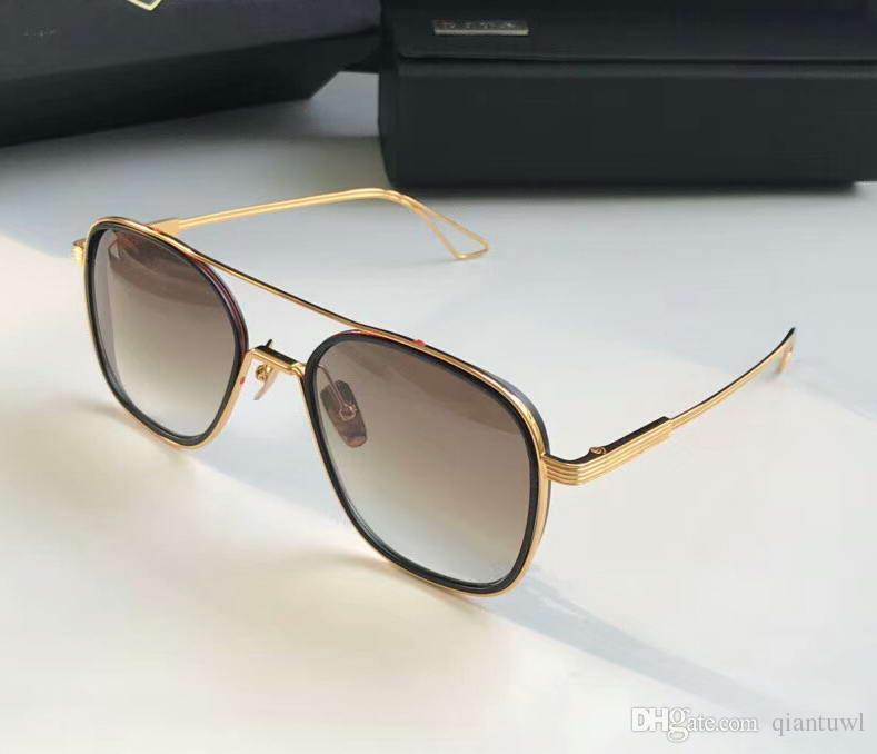 800b4cc05be16 Compre Homens SISTEMA UM Preto Ouro   Cinza Com Sombra Óculos De Sol Óculos  De Sol Óculos De Condução Óculos De Moda De Nova Em Caixa De Qiantuwl