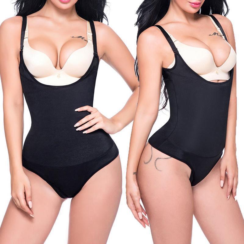 0c9ee4488c86a 2019 Women Shaper Waist Cincher Shaper Slimming Zipper Buckle Full Body  Shaper Tummy Waist Control Bodysuits Shapewear AAA587 From  Jingjingliang no4
