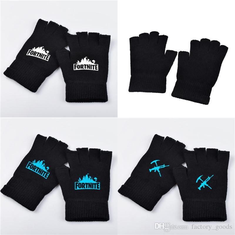 Fortnite Gloves Luminous Half Finger Gloves For Teenager Men Women ...