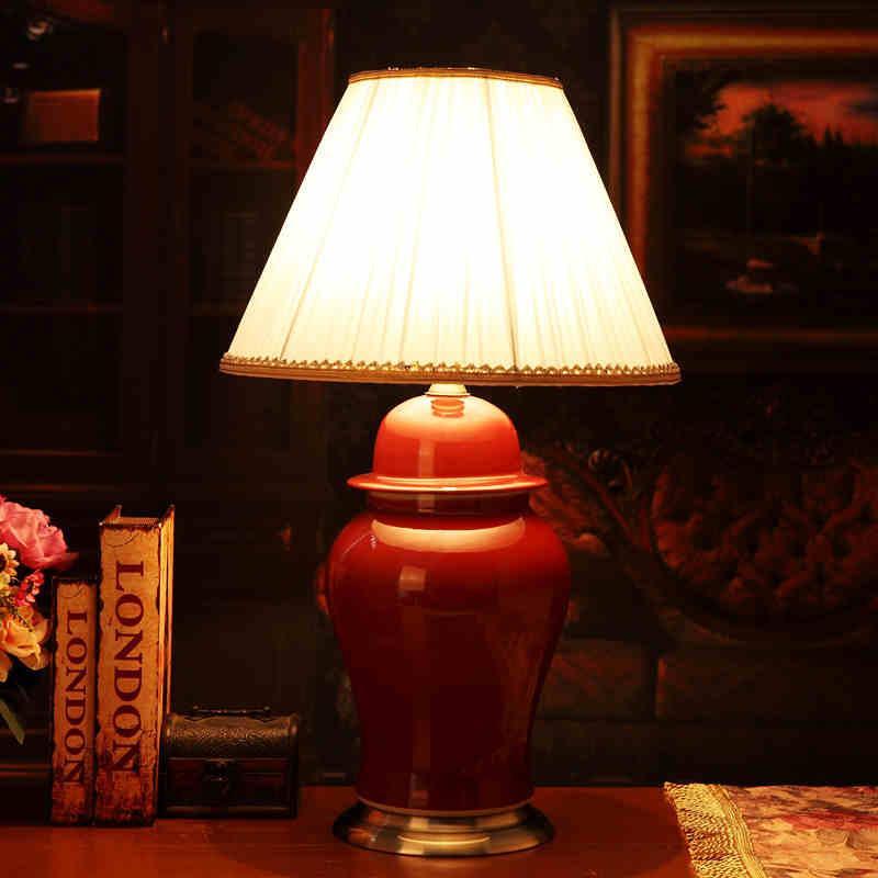 2019 Red China Antique Living Room Vintage Table Lamp Porcelain ...