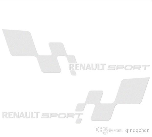 "/pair Waterproof ""Renault Sport ""Car Sticker 29*9cm For Renault ESPACE KOLEOS KADJAR CAPTUR FLUENCE MEGANE R.S.all Car Covers decoration"