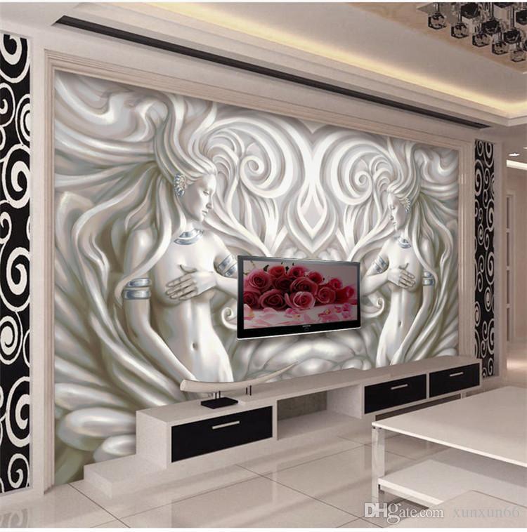 3d escultura europeia foto murais de papel de parede para sala de estar quarto tv fundo wall art decor papel de parede murais tamanho personalizado