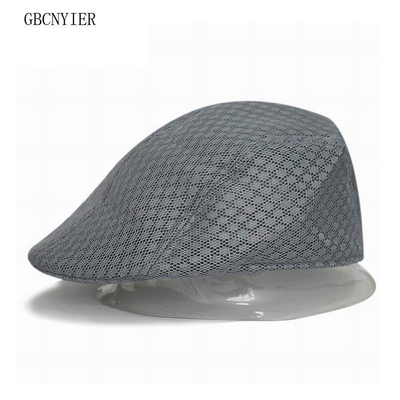 89d8071136b GBCNYIER Cheap Berets Unisex Mesh Beret Men And Women Summer Breathable Hat  Cap Short Brim Mesh Visor Unisex Thin Cool UK 2019 From Zeipt