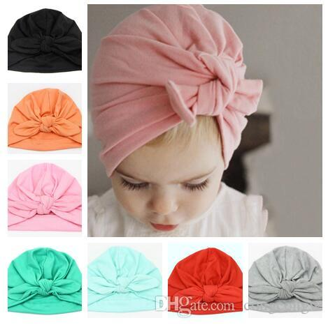 b4711449c 2019 New Europe US Baby Hats Bunny Ear Caps Turban Knot Head Wraps Infant  Kids India Hats Ears Cover Childen Milk Silk Beanie MZ02 From Congcongw