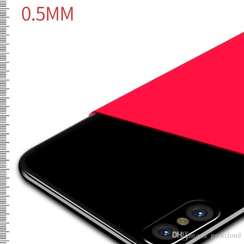For iPhone X 8 7 6 Plus 6s Ultra Thin Phone Case 0.5mm Slim Matte Cases Full Body Protection Anti Shock Shell