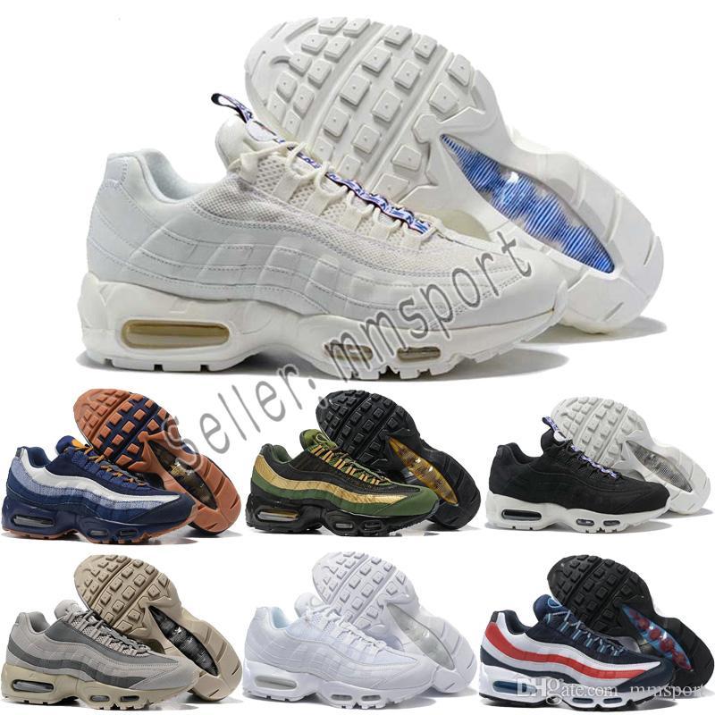 official photos 34826 9650d Großhandel 2018 Nike Air Max Airmax Heißer Verkauf Laufschuhe Männer Kissen  OG Turnschuhe Stiefel Authentische 95 S Neue Walking Rabatt Sportschuhe  Größe 36 ...