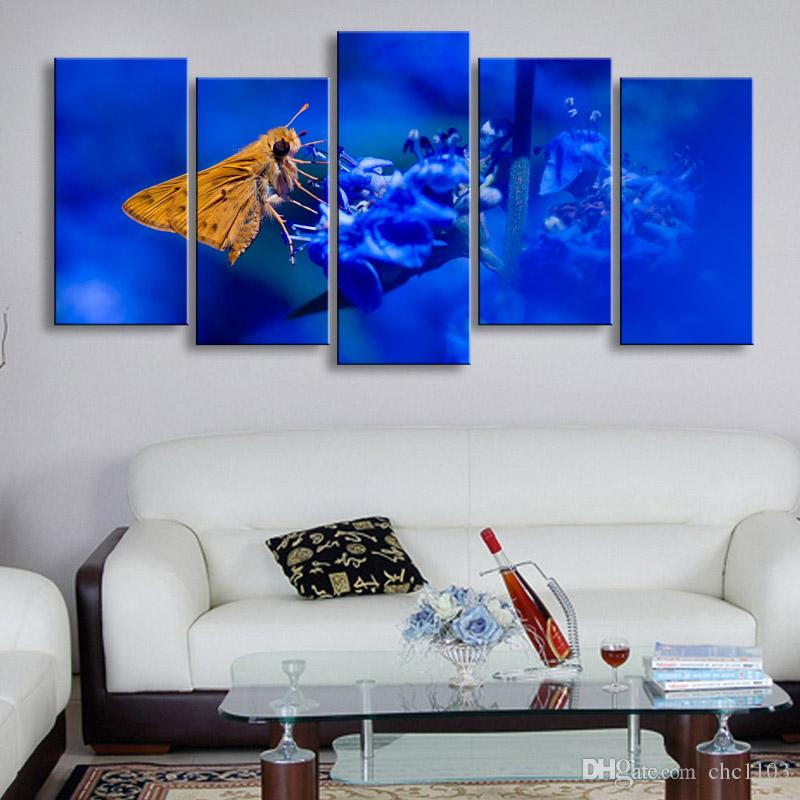 high-definition print butterfly canvas painting poster and wall art living room picture B-090