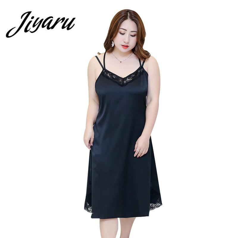 a8c503daea 2019 Sleepwear For Ladies Plus Size Women Sleepshirts Female Sleeveless  Suspenders Lace Nightgowns Women Summer Home Nightgowns From Jellwaygood,  ...