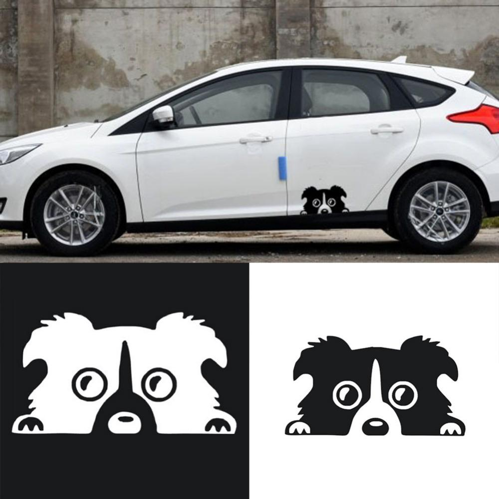 2019 new auto high quality style cartoon dog pattern sticker reflective personality car body stickers vinyl car styling automobiles from jackxiaoxuan