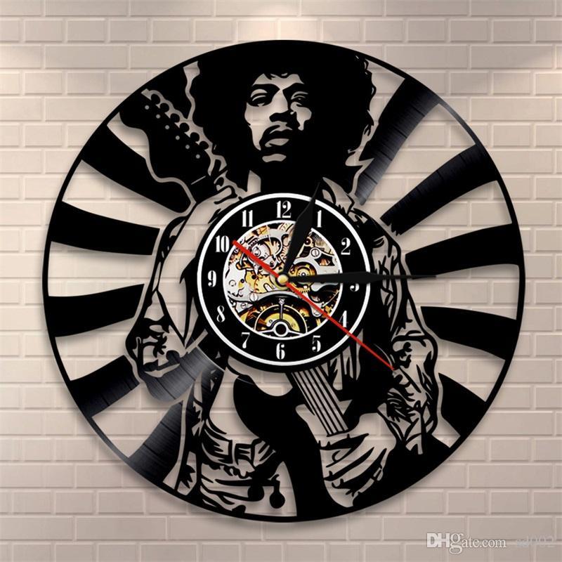 Jimi hendrix wall clock vinyl living room bedroom clocks retro