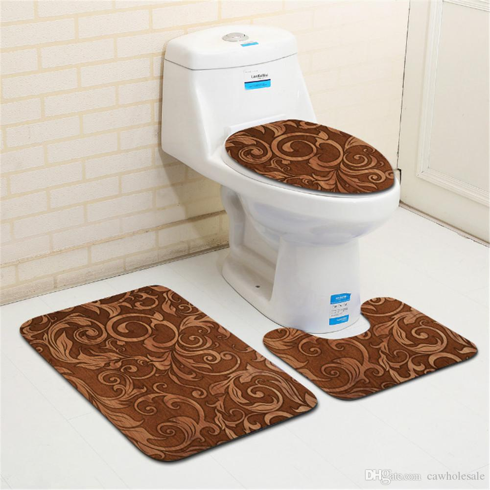 Bath Matbathroom Rug Seteuropean And American Style Flannel Non